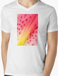 Abstract Macro Lily Mens V-Neck T-Shirt
