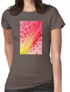 Abstract Macro Lily Womens Fitted T-Shirt