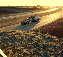First Truck On The New Freeway by davesdigis