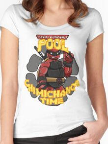 Teenage Mutant Ninja Pool! Women's Fitted Scoop T-Shirt