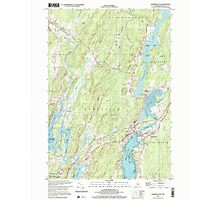 Maine USGS Historical Map Damariscotta 105065 2000 24000 Photographic Print
