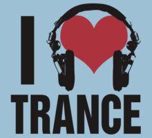 I Love Trance Music Baby Tee