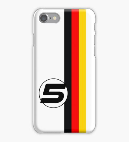 Vettel #5 iPhone Case/Skin