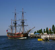 Tall Ship - HM Bark Endeavour Replica by reflector
