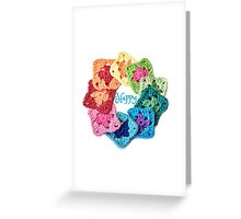 Happy Everything Granny Squares Greeting Card
