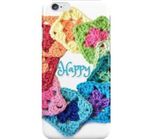 Happy Everything Granny Squares iPhone Case/Skin