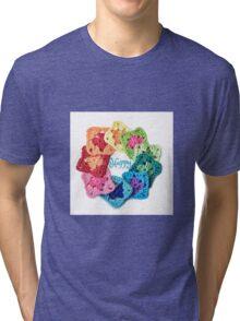 Happy Everything Granny Squares Tri-blend T-Shirt