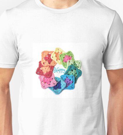 Happy Everything Granny Squares Unisex T-Shirt