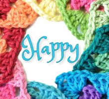 Happy Everything Granny Squares Sticker
