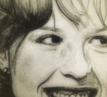 Molly Ringwald drawing Sticker
