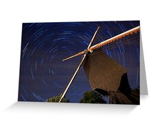Startrails Lindemolen Greeting Card