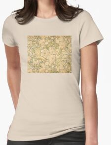 'Peonies' by Alphonse Mucha (Reproduction) T-Shirt