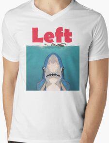 Left Jaws Mens V-Neck T-Shirt