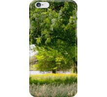 Trees and Flowers by the Riverside iPhone Case/Skin