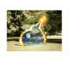 Digital Stargate Art Print