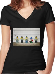 The Usual Suspects Women's Fitted V-Neck T-Shirt
