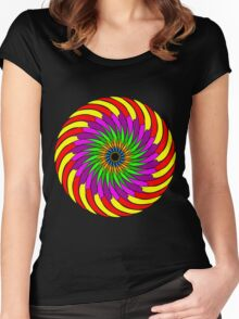 Colorful T-shirt Women's Fitted Scoop T-Shirt