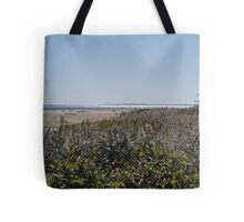 Block Island from Matunuck and the Sparkling Sea Tote Bag