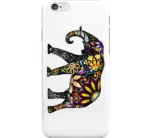 Aztec Elephant White iPhone Case/Skin