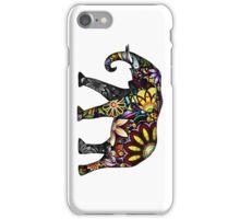 Aztec Elephant White iPhone Case/Skin
