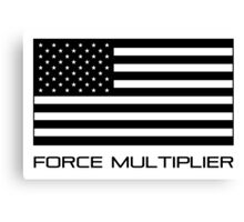 FORCE MULTIPLIER - AMERICAN FLAG (BLACK) Canvas Print