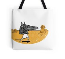 Anubis Fanboy on a Skateboard Tote Bag