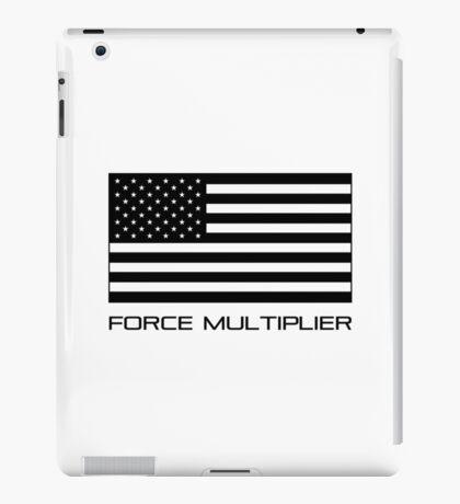 FORCE MULTIPLIER - AMERICAN FLAG (BLACK) iPad Case/Skin