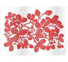 Strawberry Vine Landscape Poster