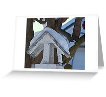 Snow Covered Feeder Greeting Card