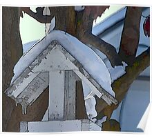 Snow Covered Feeder Poster