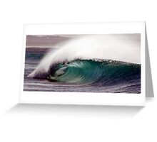 empty wave Greeting Card