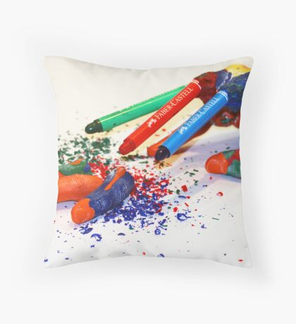 Crayon Entry(submitted) Throw Pillow