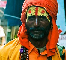 Sadhu, Pushkar India portrait by rochelle