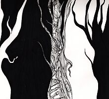 Black and white trees. by Kyraelizabeth