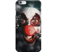 Scary horror circus clown laughing with evil smile iPhone Case/Skin