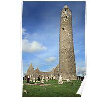 Kilmacduagh round tower 1 Poster