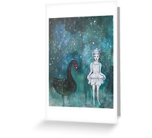 Black Swan, Guide Me To Morning Greeting Card