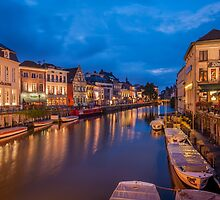 Canals in Ghent by Bert Beckers