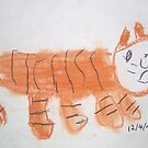 Tiger (by my 4 year old) by Dianne  Ilka