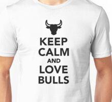 Keep calm and love bulls Unisex T-Shirt