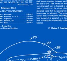Virtual Reality Helmet Patent - Blueprint Sticker