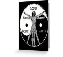 Body Mind Spirit  Greeting Card
