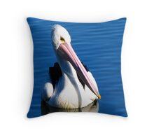 snowy river estuary pelican Throw Pillow