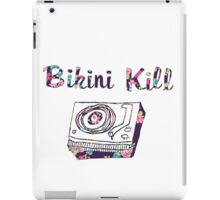 Bikini Kill Purple Floral Riot Grrrl Feminist Design iPad Case/Skin