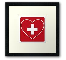 Get Well Soon, Doctor, Heart, First Aid, Swiss Army, Victorinox, Sexy Nurse Framed Print