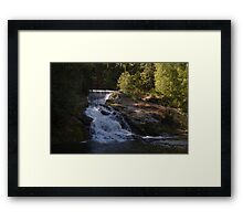 double water falls in washington Framed Print