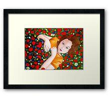 """Beautiful """"Poppy"""" Girl Framed Print"""