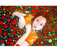 "Beautiful ""Poppy"" Girl Photographic Print"