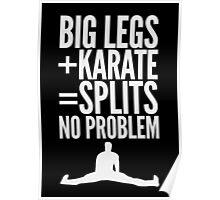BIG LEGS + KARATE Poster