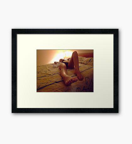 Motel Model  Framed Print